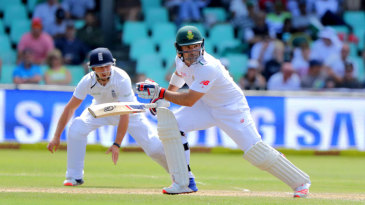 Dean Elgar batted through to the close for 67 not out