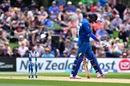 Sachithra Senanayake begins to walk back after being dismissed for a duck, New Zealand v Sri Lanka, 2nd ODI, Christchurch, December 28, 2015