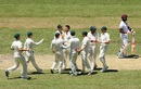 Australia celebrate the wicket of Kemar Roach, Australia v West Indies, 2nd Test, Melbourne, 3rd day, December 28, 2015