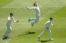 Peter Nevill leaps with joy after Marlon Samuels is caught behind, Australia v West Indies, 2nd Test, Melbourne, 4th day, December 29, 2015