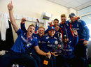 England celebrate their series win over New Zealand, England v New Zealand, 5th ODI, Chester-le-Street, June 20, 2015