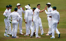 Kyle Abbott celebrated an early wicket, South Africa v England, 1st Test, Durban, 4th day, December 29, 2015