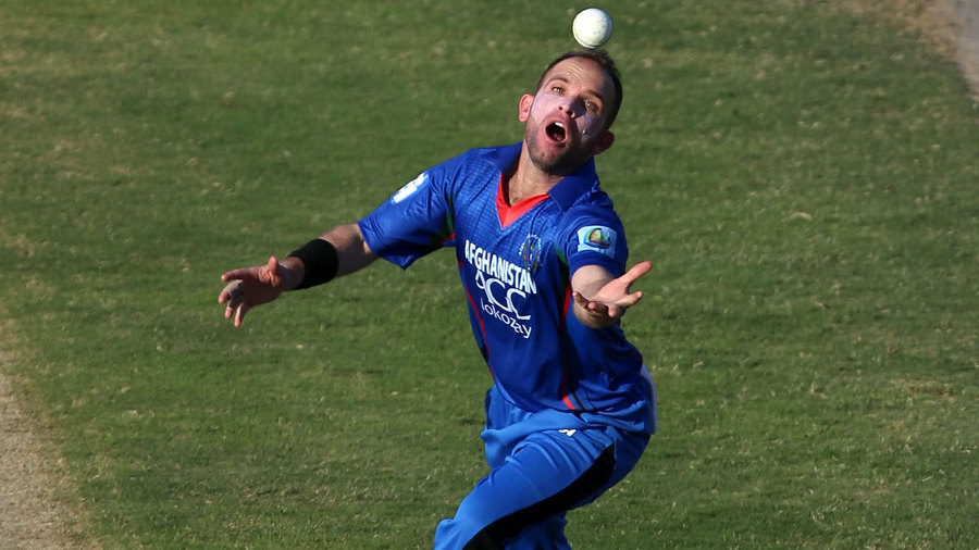 Debutant Rokhan Barakzai holds on to a catch