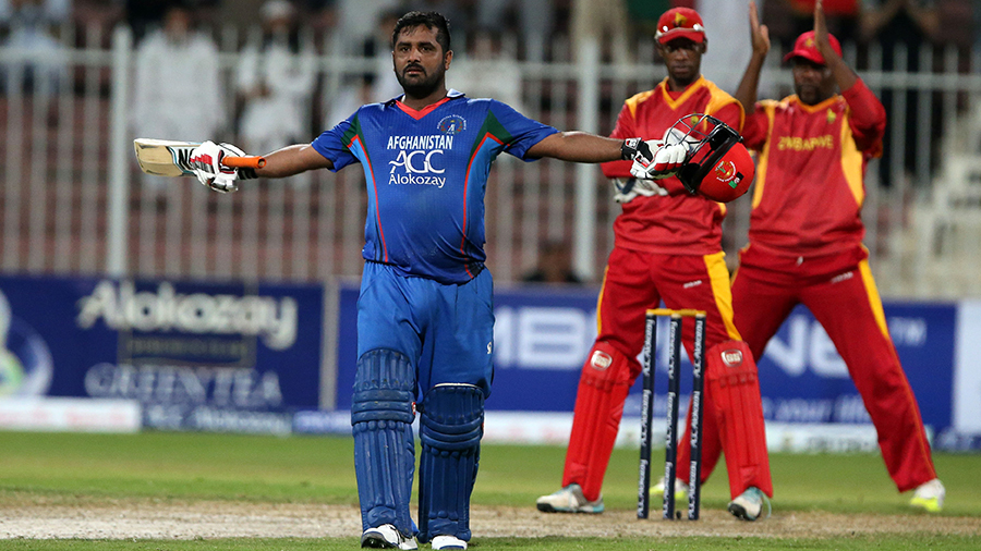 Mohammad Shahzad brought up his fourth ODI century off 110 balls