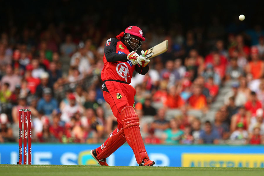 Chris Gayle launches one down the ground | Photo | Big Bash League ...