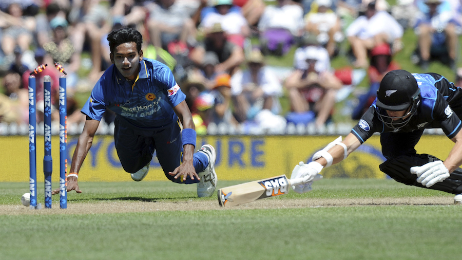 Dushmantha Chameera ran Mitchell Santner out for 38