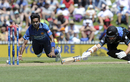 Dushmantha Chameera ran Mitchell Santner out for 38, New Zealand v Sri Lanka, 3rd ODI, Nelson, December 31, 2015