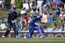 Tillakaratne Dilshan plays a sweep shot during his 91, New Zealand v Sri Lanka, 3rd ODI, Nelson, December 31, 2015