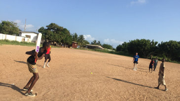 <b>Joseph Palmer</b> coaches cricket to children in Ghana