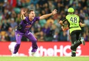 Shaun Tait produced a fiery spell of 3 for 16, Hobart Hurricanes v Sydney Thunder, BBL 2015-16, Hobart, January 1, 2016