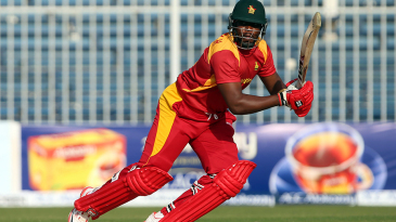 Hamilton Masakadza steers the ball through the off side during his fifty