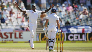 Kagiso Rabada removed James Taylor first ball after tea