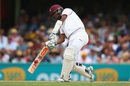 Kraigg Brathwaite targets the leg side, Australia v West Indies, 3rd Test, Sydney, 1st day, January 3, 2016