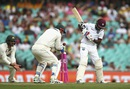 Jermaine Blackwood was bowled by Nathan Lyon, Australia v West Indies, 3rd Test, Sydney, 1st day, January 3, 2016