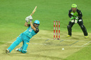 Nathan Reardon was not the only player to slip when the rain came down, Brisbane Heat v Sydney Thunder, BBL 2015-16, Brisbane, January 3, 2016