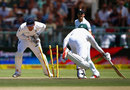 Stiaan van Zyl was run out early in South Africa's innings, South Africa v England, 2nd Test, Cape Town, 2nd day, January 3, 2016