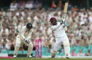 Denesh Ramdin drives through the off side, Australia v West Indies, 3rd Test, Sydney, 2nd day, January 4, 2016