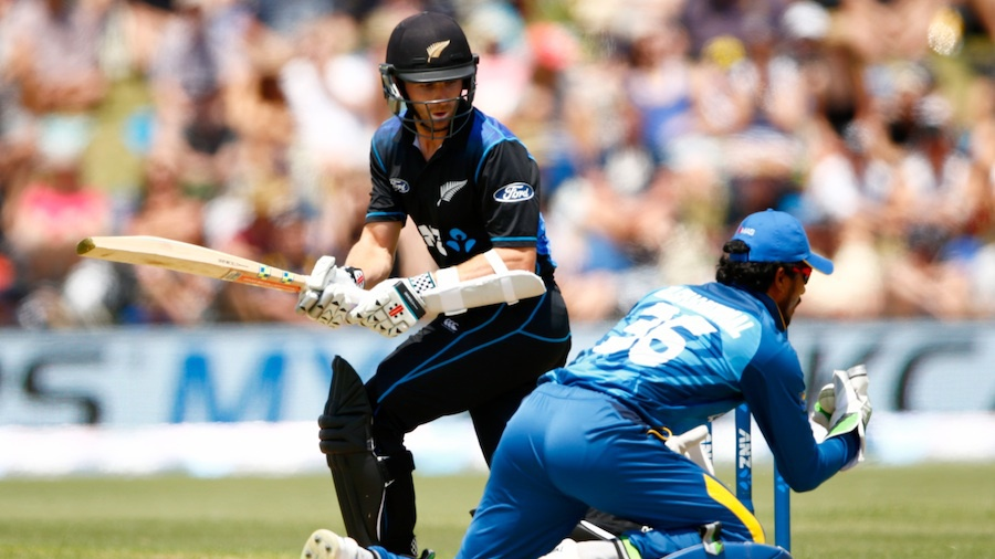 Kane Williamson was caught off the glove and some thigh