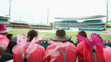 Fans turned up with butterfly wings at the SCG