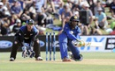 Dinesh Chandimal prepares to reverse-sweep, New Zealand v Sri Lanka, 5th ODI, Mount Maunganui, January 5, 2016