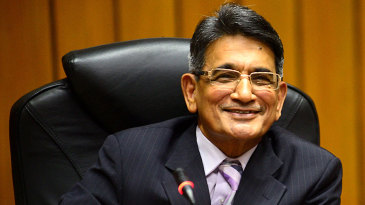 Justice RM Lodha at a press conference