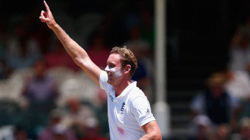 Stuart Broad finally broke through with the third new ball