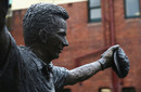 Rain falls on the statue of Steve Waugh, Australia v West Indies, third Test, day four, Sydney, January 6, 2016