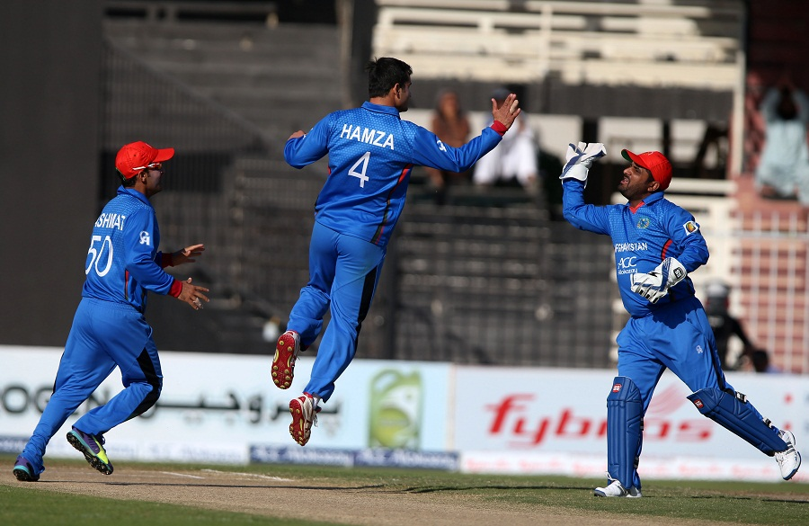 Zimbabwe chose to bat and were dented early by Amir Hamza, who trapped Chamu Chibhabha in the third over of the innings