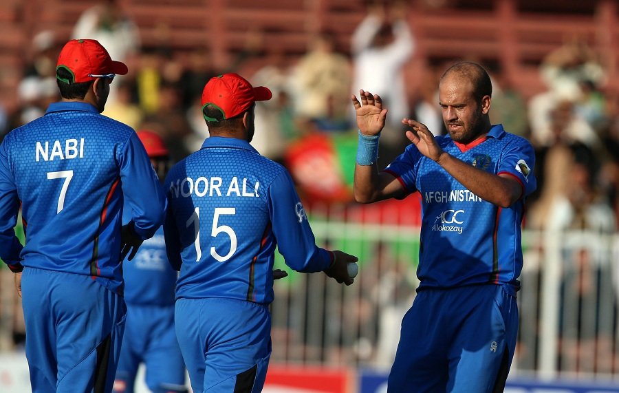 Timely strikes from Afghanistan's bowlers helped them pull things back in the middle overs