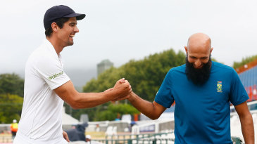 Alastair Cook and Hashim Amla share a smile