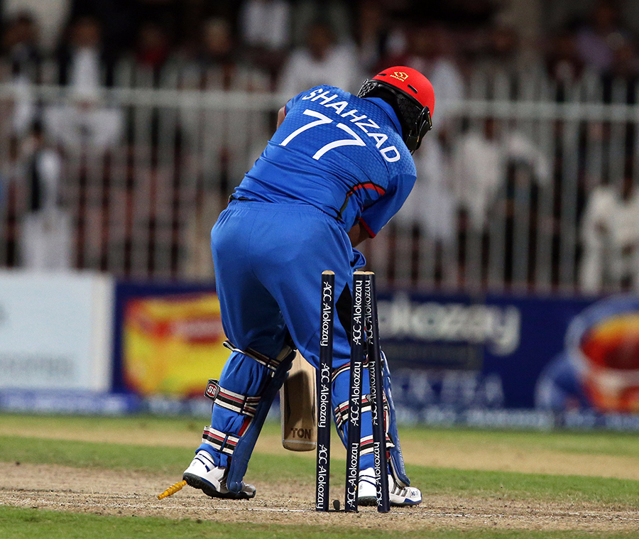 Mohammad Shahzad creamed five fours early on, but was unable to make good on his start, getting bowled for 25