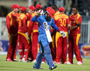 Hashmatullah Shahidi walks back for 32, Afghanistan v Zimbabwe, 5th ODI, Sharjah, January 6, 2016