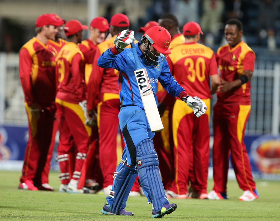 But both batsmen were dismissed in quick succession, once again tipping the contest Zimbabwe's way