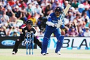Danushka Gunathilaka plays one through the leg side, New Zealand v Sri Lanka, 1st T20I,  Mount Maunganui, January 7, 2016