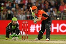 Cameron Bancroft lines up to play a stroke, Sydney Thunder v Perth Scorchers, BBL 2015-16, Sydney, January 7 2016