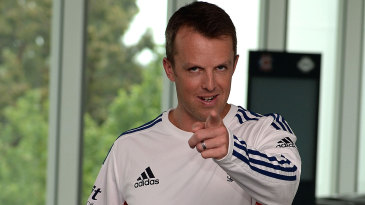 Graeme Swann gets playful ahead of his retirement press conference in Melbourne
