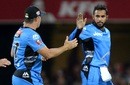 Adil Rashid produced returns of 2 for 17, Brisbane Heat v Adelaide Strikers, BBL 2015-16, Brisbane, January 8, 2016