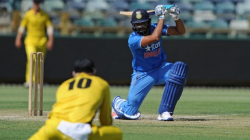 Rohit Sharma drives through cover during his 67