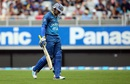 Tillakaratne Dilshan walks back after being dismissed for 28, New Zealand v Sri Lanka, 2nd T20I, Auckland, January 10, 2016
