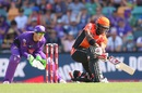 Michael Carberry plays a sweep, Hobart Hurricanes v Perth Scorchers, BBL 2015-16, Hobart, January 10, 2016