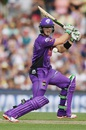Tim Paine plays a cut during his 57, Hobart Hurricanes v Perth Scorchers, BBL 2015-16, Hobart, January 10, 2016