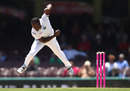 Jerome Taylor bowls, Australia v West Indies, 3rd Test, Sydney, 5th day, January 7, 2016