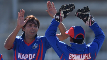 Mohammad Asif celebrates a wicket on his comeback