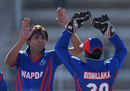 Mohammad Asif celebrates a wicket on his comeback, FATA v WAPDA, National One Day Cup 2015-16, Hyderabad, January 10, 2016