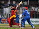 Peter Moor employs the pull, Afghanistan v Zimbabwe, 2nd T20I, Sharjah, January 10, 2016