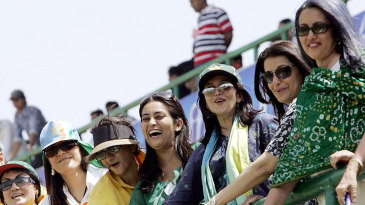 Women fans from Pakistan at the Kotla