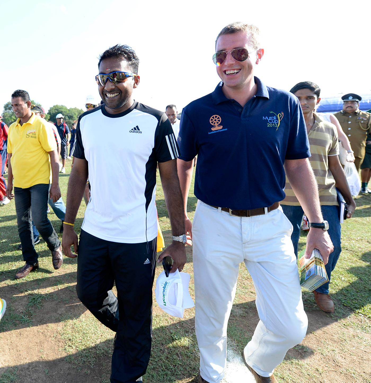 All-purpose go-to guy: Charlie Austin with Mahela Jayawardene