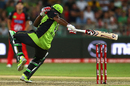 Andre Russell lost his balance after being struck by a bouncer and was out hit-wicket, Sydney Thunder v Melbourne Renegades, Big Bash League 2015-16, Sydney, January 11, 2016