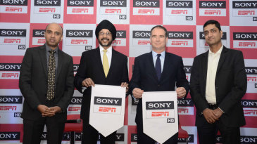 From left to right: Prasana Krishnan, EVP & Business Head, Sports Cluster, Sony Pictures Networks India; NP Singh, Chief Executive Officer, Sony Pictures Networks India; Mike Morrison, Vice President & General Manager, ESPN Asia Pacific; Ramesh Kumar, Vice President, ESPN India and South Asia