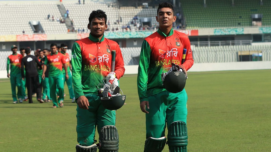 Nazmul Hossain Shanto and Saif Hassan took Bangladesh Under-19s to victory